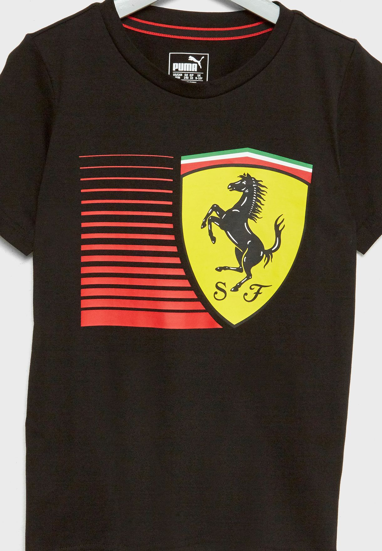9f7056642e83 Shop PUMA black Kids Ferrari Big Shield T-Shirt 57672902 for Kids in ...