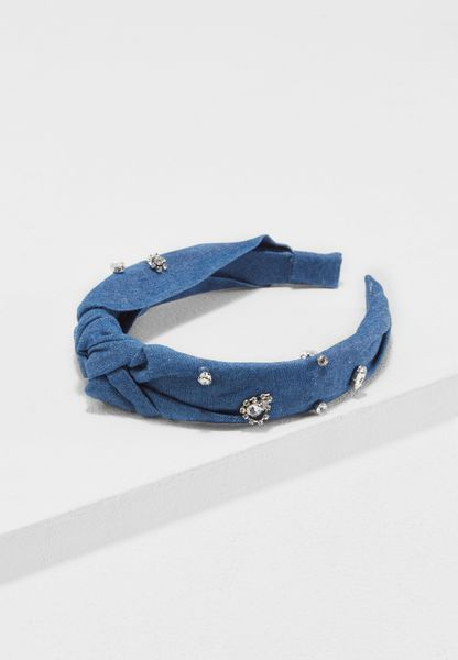 Denim Knot Aliceband