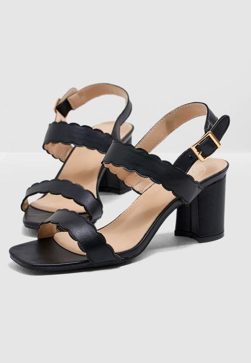 Samina Scallop Sandals