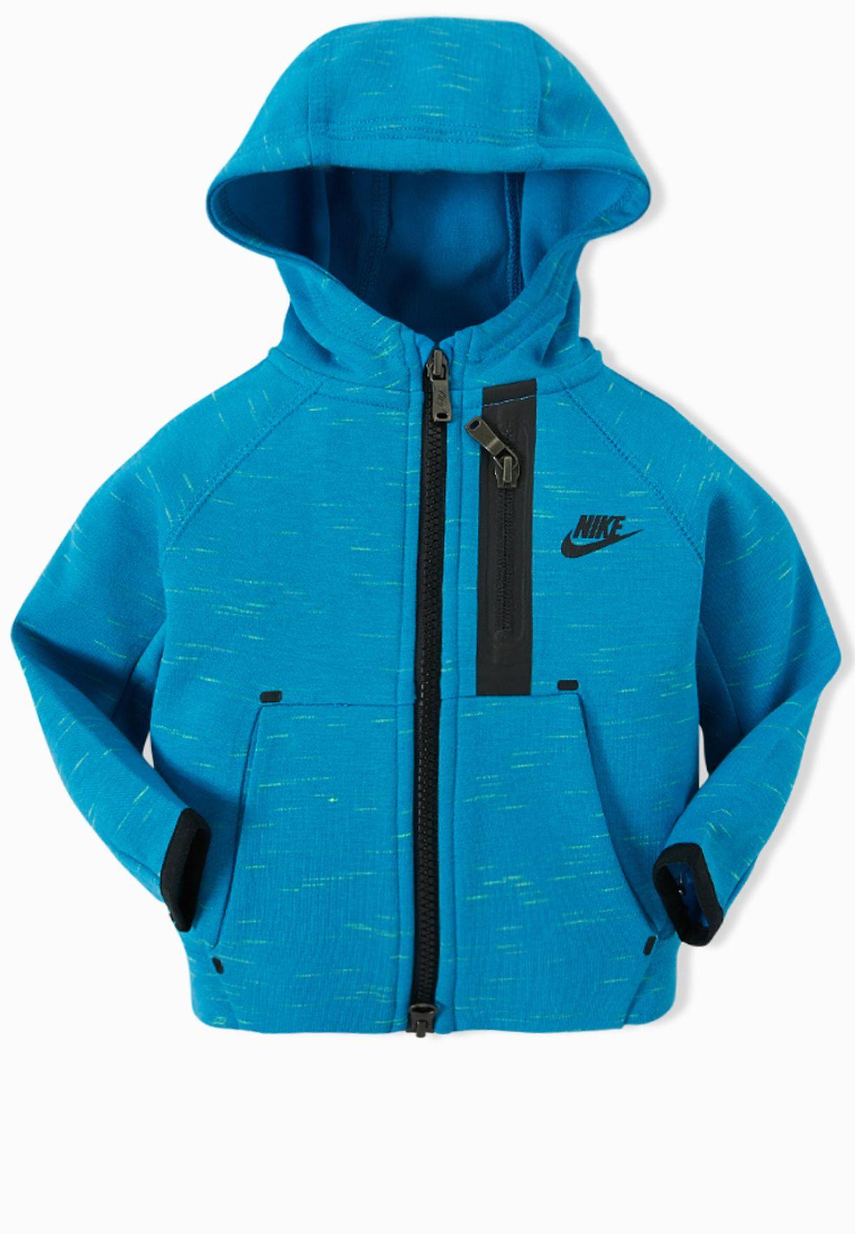 411353dc89e8 Shop Nike blue Infant Tech Logo Hoodie 677477-452 for Kids in UAE ...