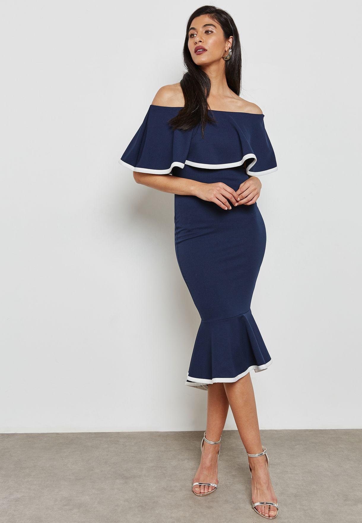 ff09482c6e4fa Bardot Full Skirt Midi Dress