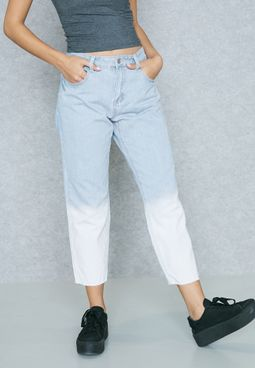 Two Tone Boyfriend Jeans
