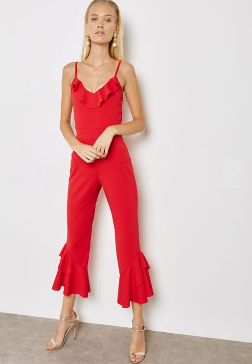 dc403ccc277aa Ruffle Detail Jumpsuit