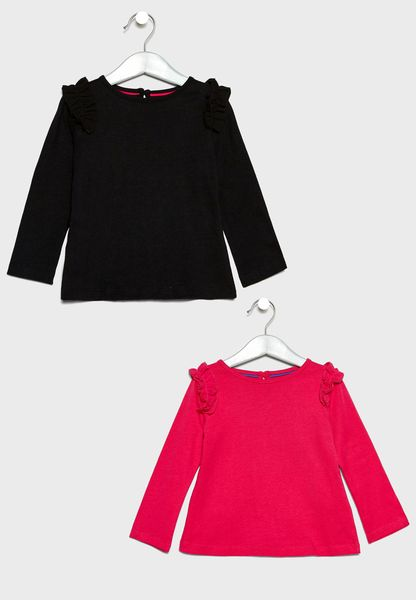Infant 2 Pack Ruffle Tops