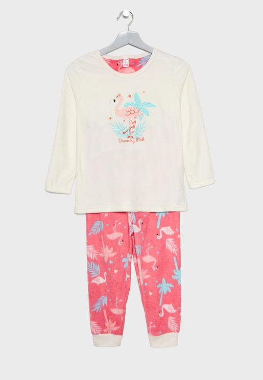 Kids Flamingo Pyjama Set