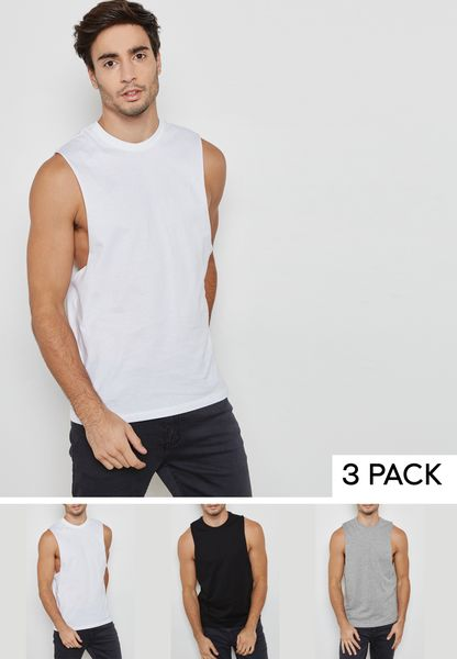3 Pack Crew Neck Vests