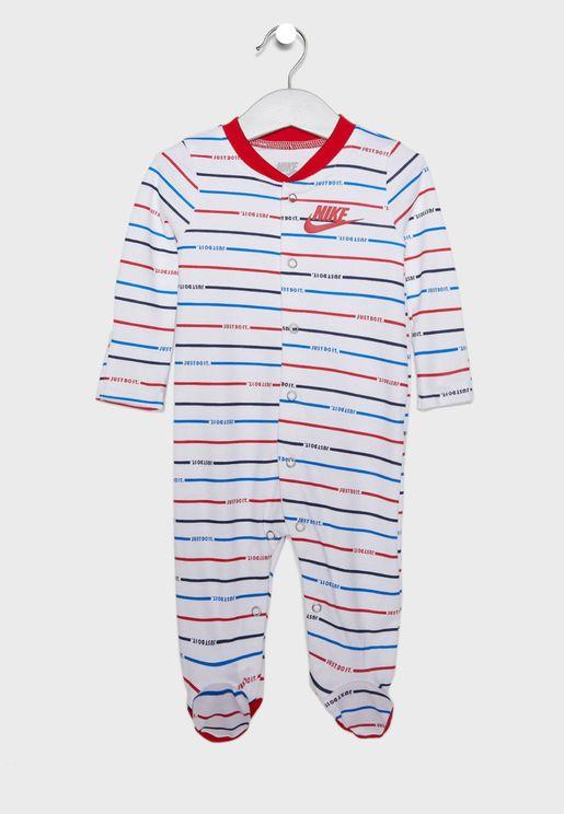 Infant Stripe Footed Romper