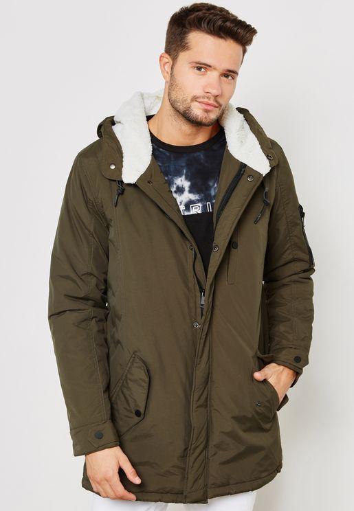 Hooded Fishtail Parka Jacket