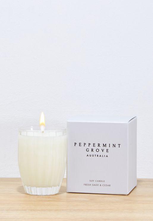 Fresh Sage & Cedar Candle - 200g