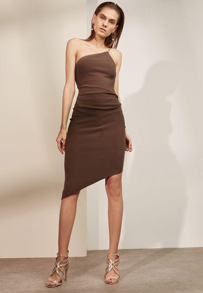Asymmetric One Shoulder Dress