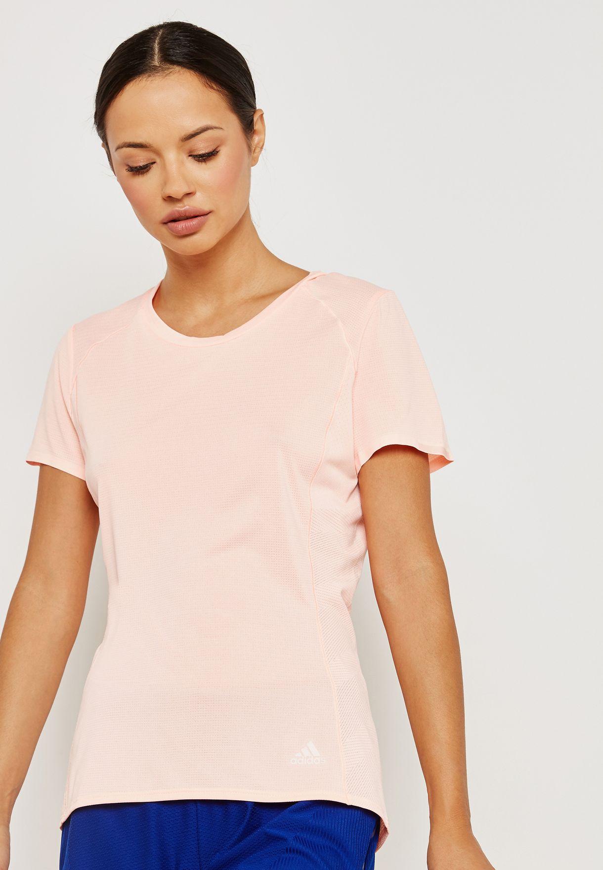 a85901ef Shop adidas pink Supernova T-Shirt CZ5555 for Women in UAE ...