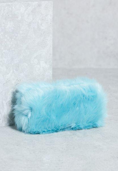 Small  Fur  Make Up Bag