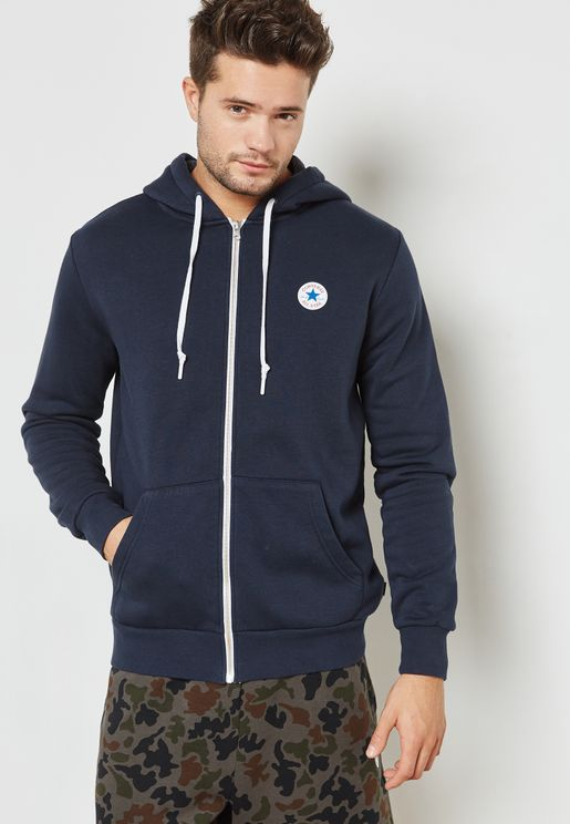 Core Zip Through Hoodie