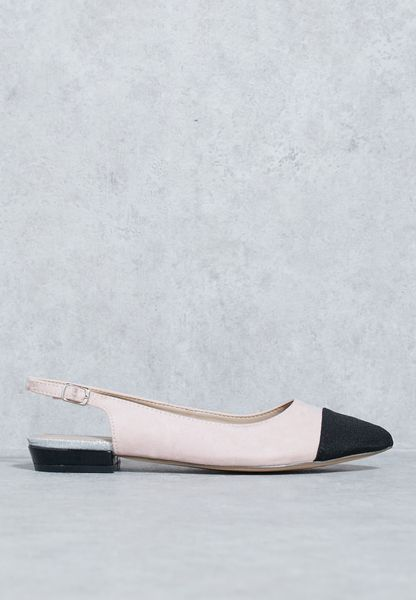 Neutral Tone Slingback Sandal