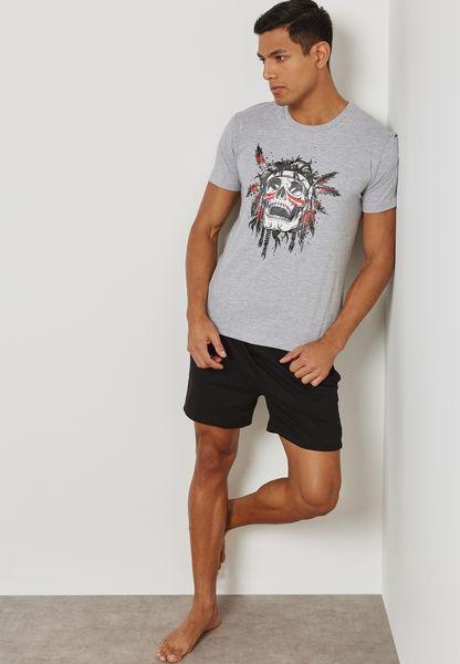 Skull Tribe Nightwear Set