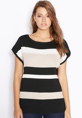 Wallis Contrast Stripe Top