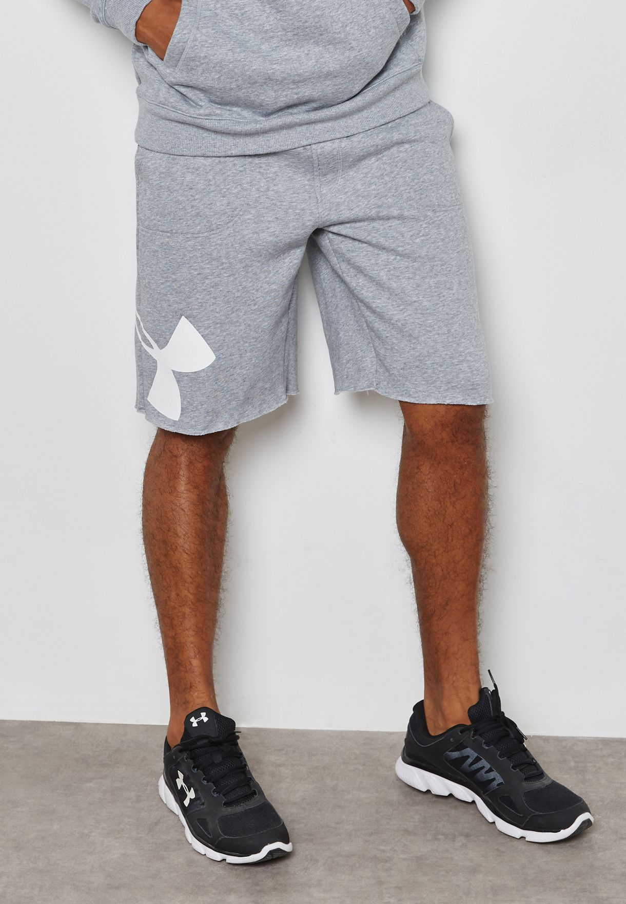 6b2dd543b94 Shop Under Armour grey Rival Exploded Graphic Shorts 1303137-025 for Men in  Kuwait - UN700AT29RKC