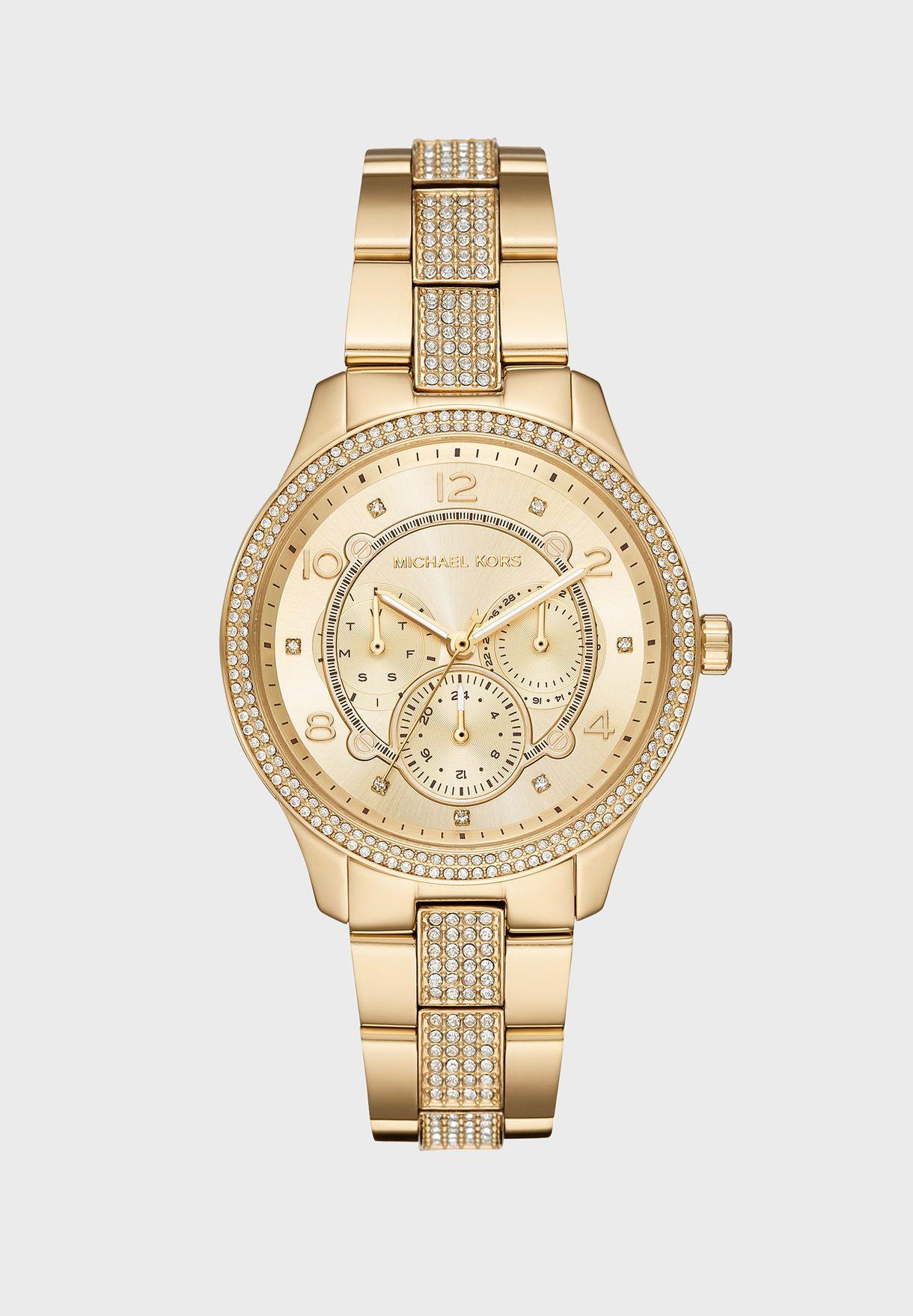 b939f1d2ec3c Shop Michael Kors gold MK6613 Runway Jetset Watch MK6613 for Women ...