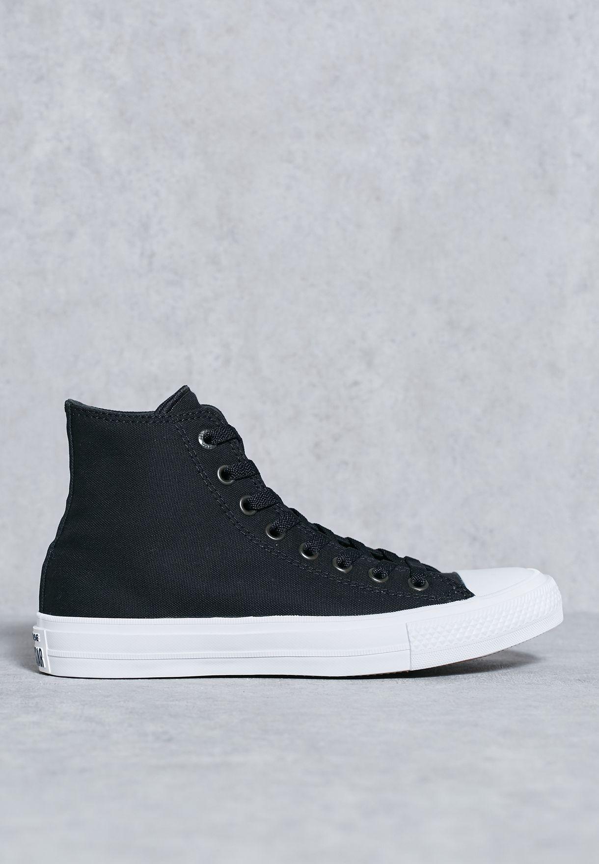 ec6b8aeabde3 Shop Converse black Chuck Taylor All Star II Hi Sneakers for Women in  Bahrain - CO049SH29YPU