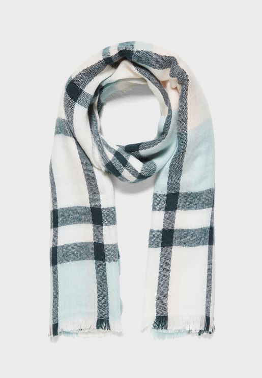 Sasa Weaved Check Scarf
