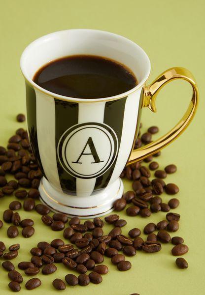 Alphabet Stripy Mug Letter H