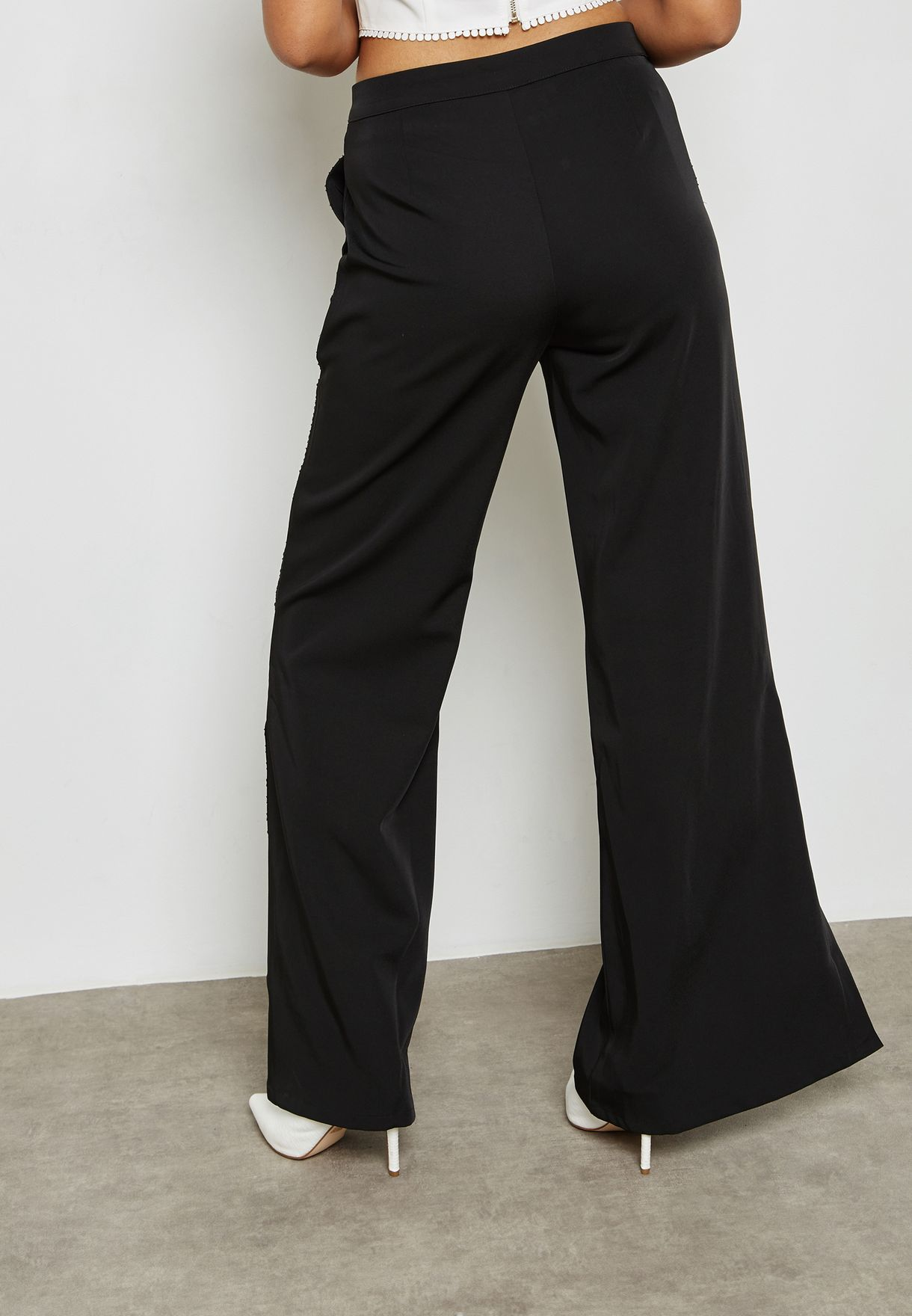 Side Split Wide Leg Pants