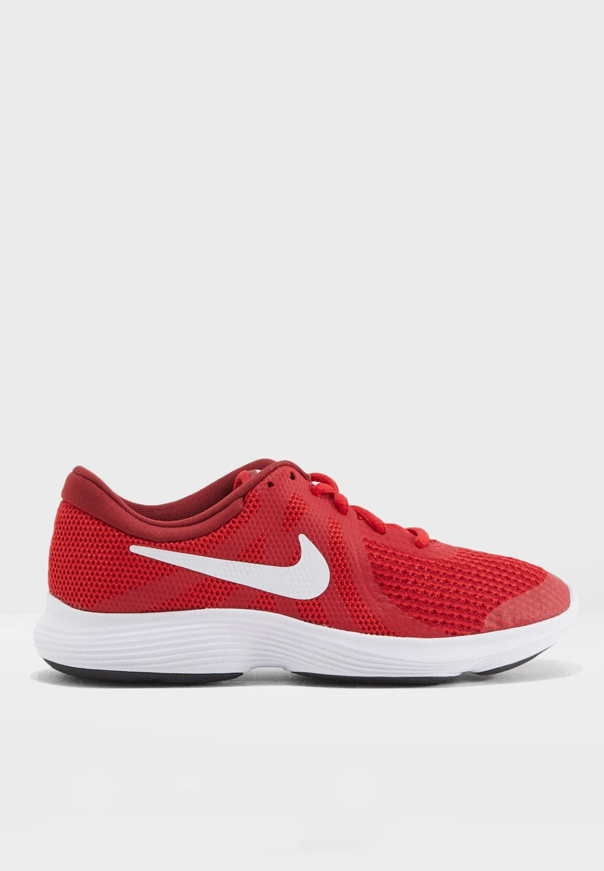 81a5bc90fe5 Shop Nike red Revolution 4 Youth 943309-601 for Kids in UAE ...