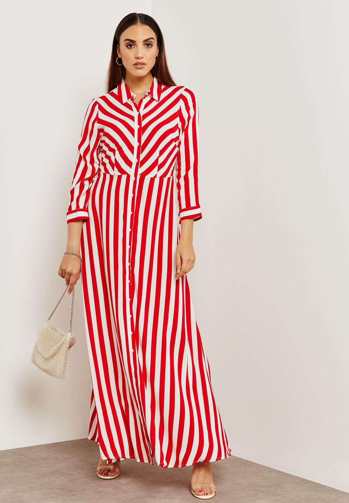 3fe772c49f2 Shop Yas prints Striped Shirt Dress 26011375 for Women in Bahrain ...
