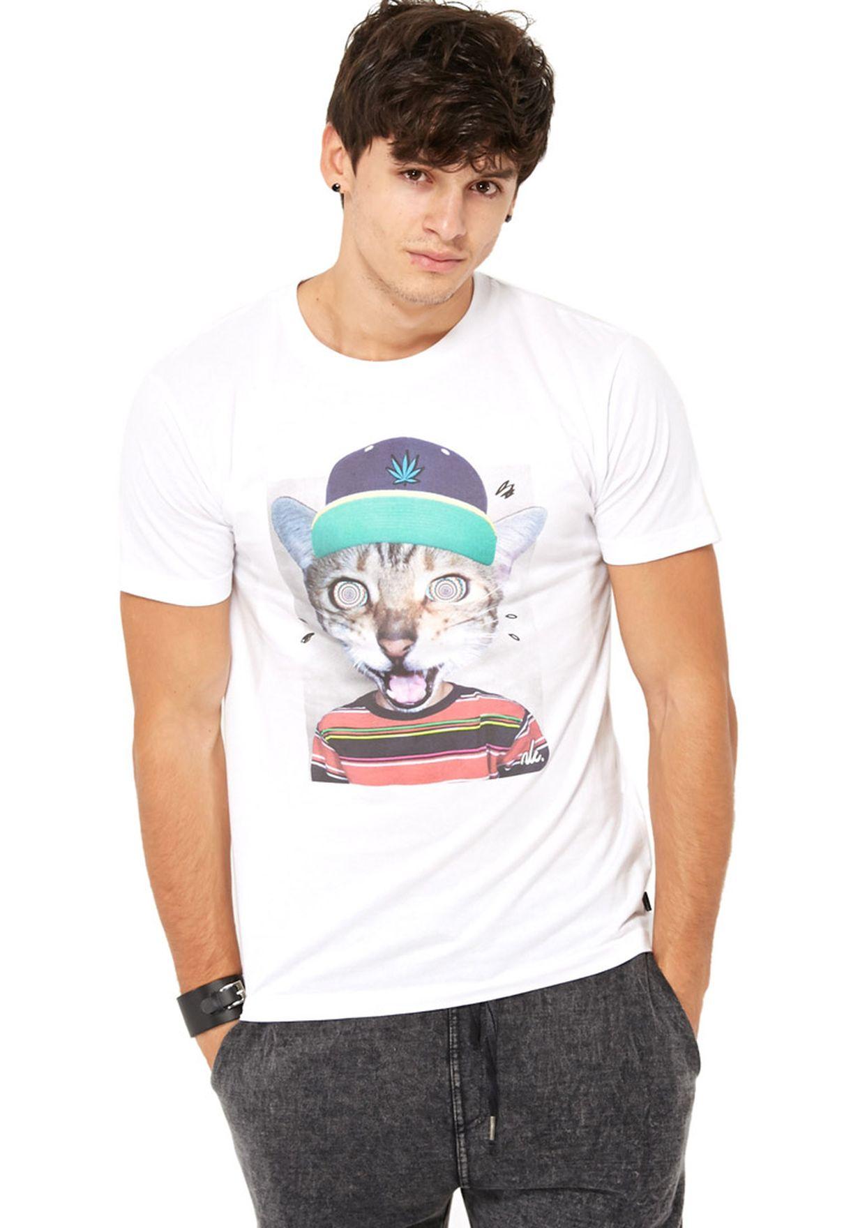 1b56e67dd Shop New Love Club white Cool Cat T-Shirt for Men in Bahrain ...