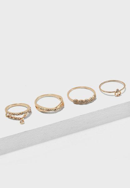 Droeclya Gem Cluster Rings