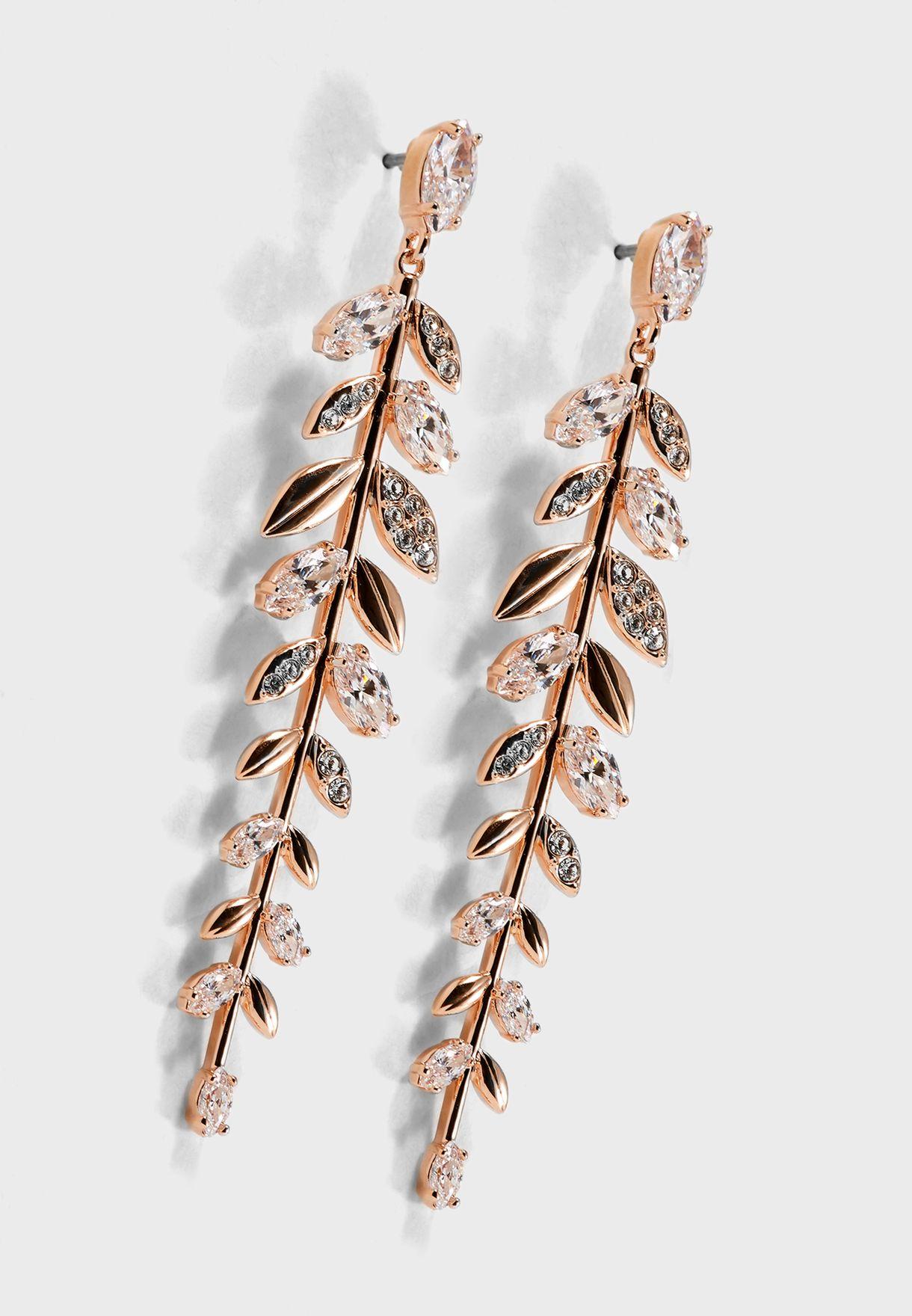 07e499ebd0 Shop Swarovski rosegold Mayfly Pierced Drop Earrings 5410410 for ...