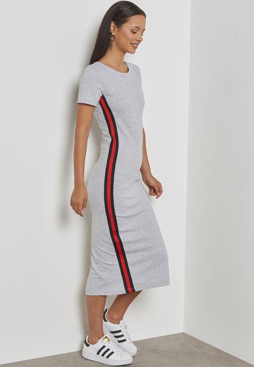 Contrast Side Paneled Dress
