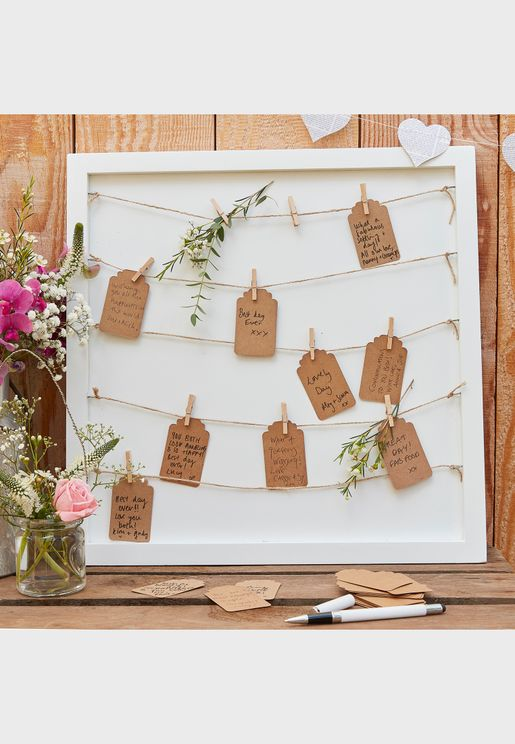 Pegs & String Guest Book