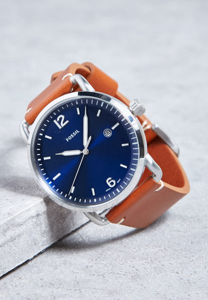 The Commuter  Leather Watch