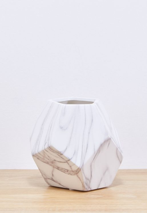 Marble Geo Vase