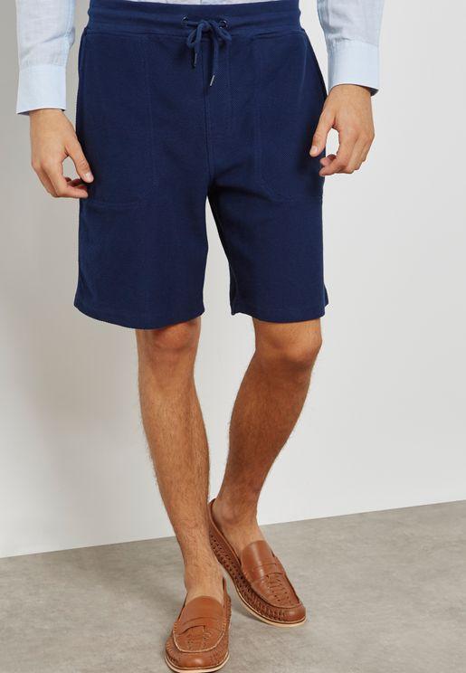 Textured Bermuda Shorts