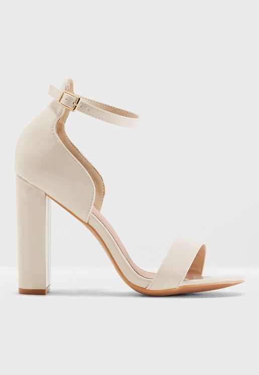 Low Counter Block Heel Sandal