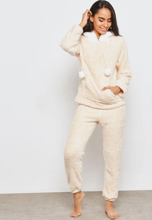 Hooded Twosie Pyjama Set