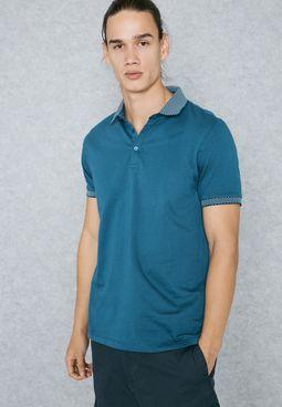 Jacquard Collar Polo