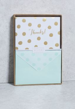 Dot Boxes Note Card