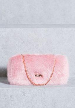 Candy Fur Clutch