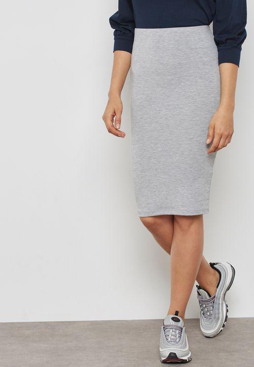 Textured Bodycon Skirt