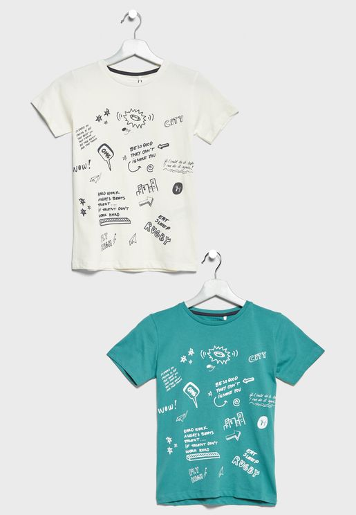 Little 2 Pack Graphic T-Shirts