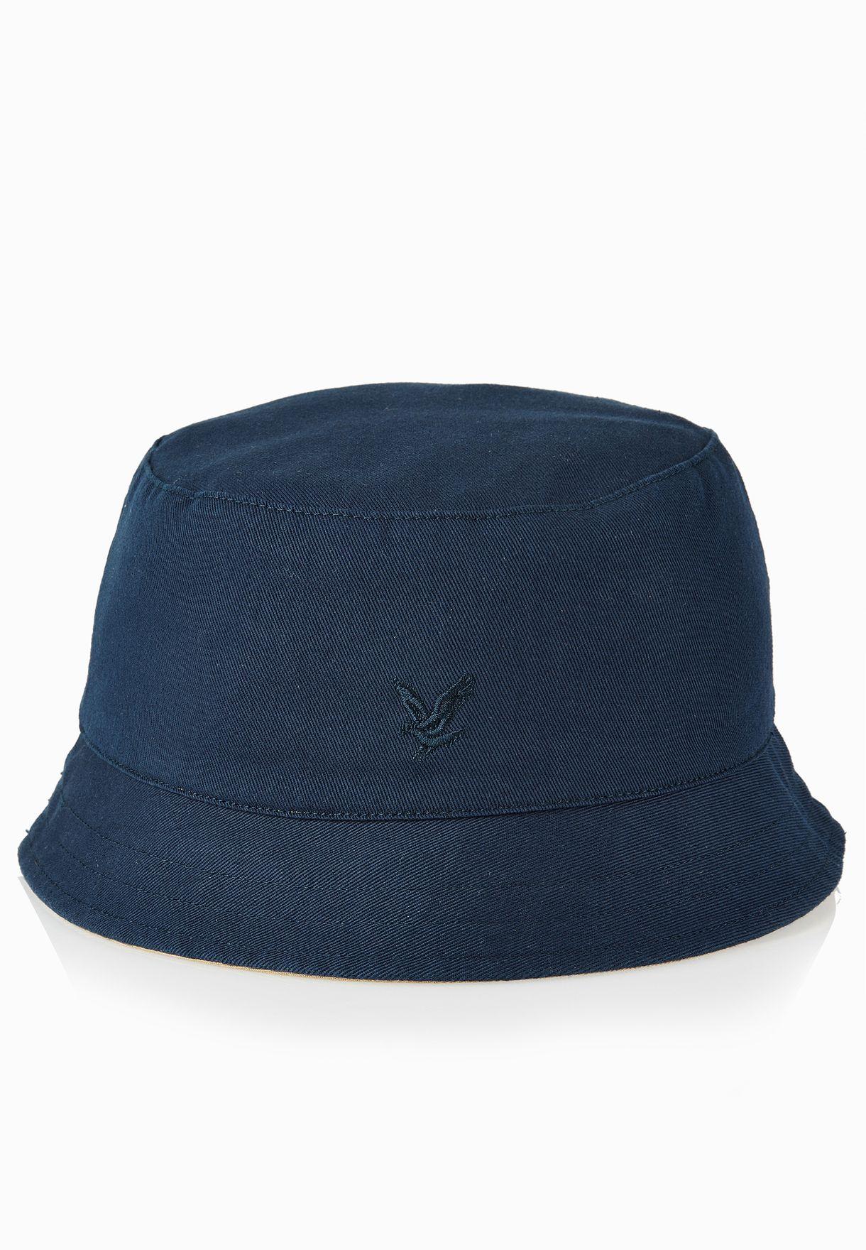 f11614944fe Shop Lyle Scott navy Reversible Bucket Hat HE402A-506 for Men in ...