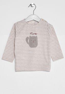 Infant Stripe Print Mixu T-Shirt