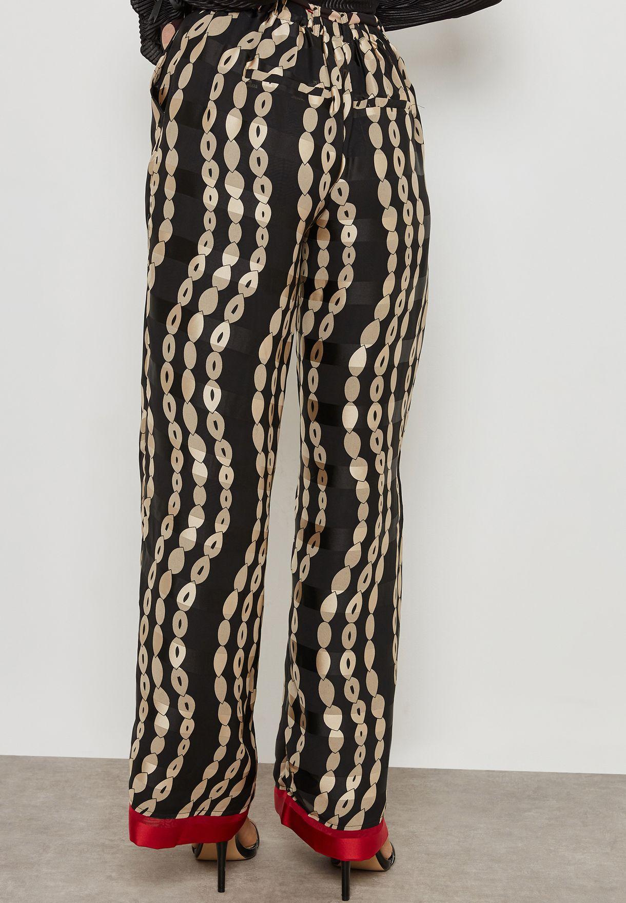 Buy Yas Prints Contrast Band Printed Pants For Women, Uae Ya500at19tyq