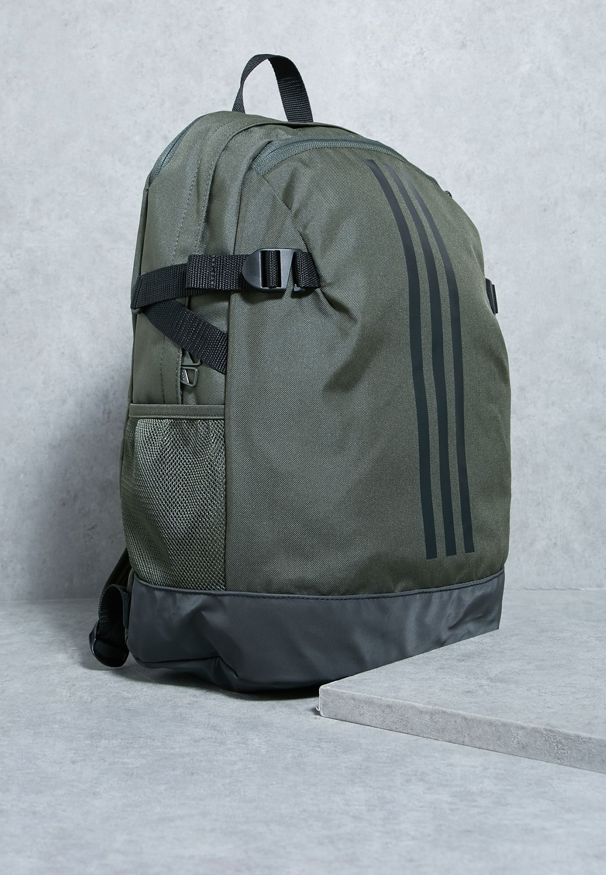 16486c4f723d Shop adidas green 3 Stripe Power Backpack BR1545 for Men in UAE ...
