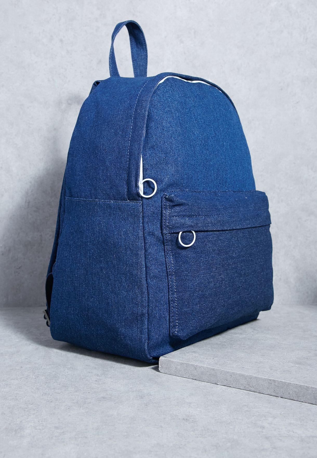 1510ebfa8f05e تسوق شنطة ظهر جينز ماركة مانجو مان لون أزرق 14080661 في عمان ...