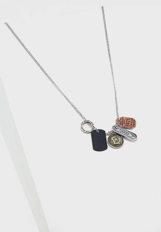 Multiple Dog Tag Pendant Necklace