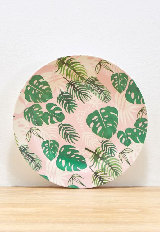 Tropical Palm Bamboo Plate
